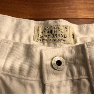 Lucky Brand White Shorts | The Cut Off | Size 4/27